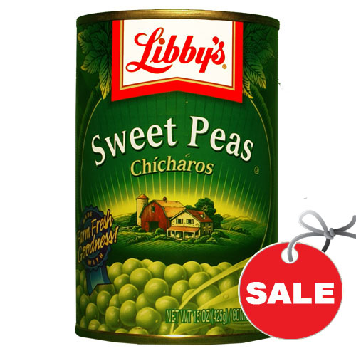 how to make canned peas sweet