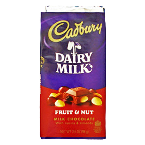 SNACKS :: CANDIES :: Cadbury Fruit & Nut, Milk Chocolate ...