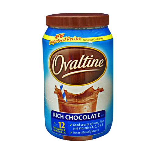 Rich chocolate ovaltine