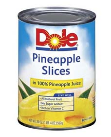 Is Dole Pineapple Slices Gluten Free CANNED GOODS :: ...