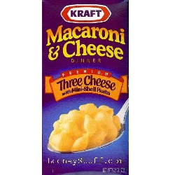 RICE AND PASTA :: Kraft Macaroni and Cheese, Three Cheese, 7.25 oz ...
